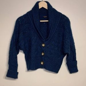 Free People extra small blue short cardigan